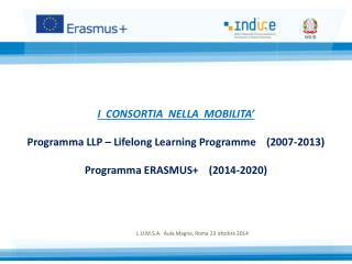 Programma LLP –  Lifelong  Learning  Programme 2007-2013
