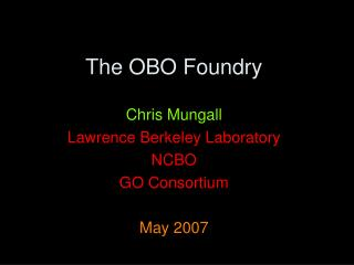 The OBO Foundry