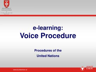 e-learning: Voice Procedure