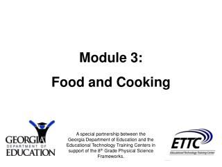 Module 3: Food and Cooking