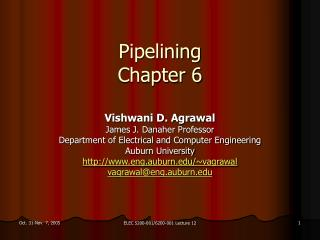 Pipelining Chapter 6
