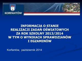 Korfantów,  październik 2014