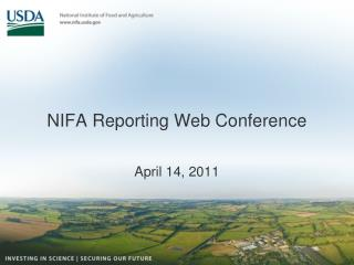 NIFA Reporting Web Conference