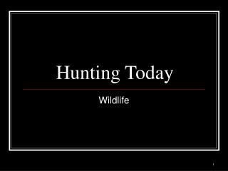 Hunting Today