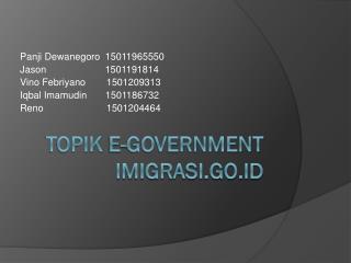 Topik E-Government Imigrasi.go.id