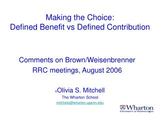Making the Choice: Defined Benefit vs Defined Contribution