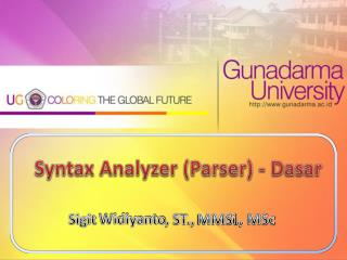 Syntax Analyzer (Parser) -  Dasar