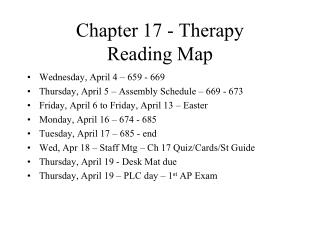 Chapter 17 - Therapy Reading Map