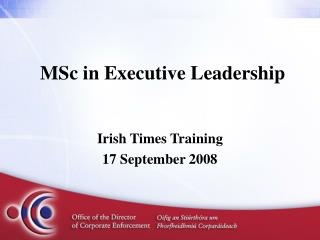 MSc in Executive Leadership