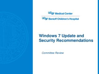 Windows 7 Update and Security Recommendations
