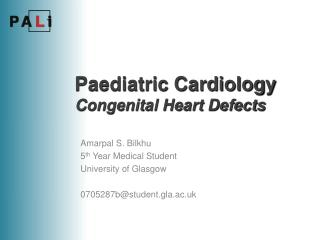 Paediatric Cardiology Congenital Heart Defects