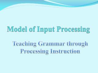 Model of Input Processing