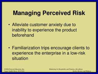Managing Perceived Risk