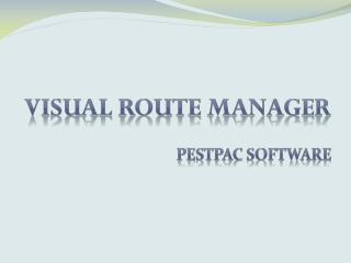 Visual Route Manager