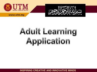 Adult Learning Application