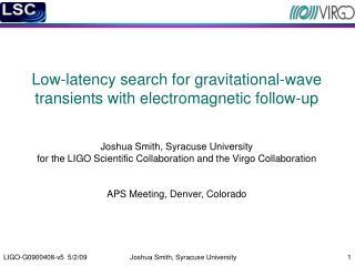 The LIGO/Virgo Burst Search