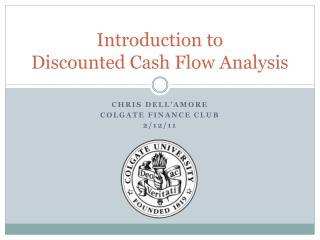 Introduction to  Discounted Cash Flow Analysis