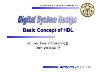 Basic Concept of HDL