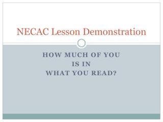 NECAC Lesson Demonstration