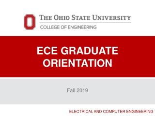 ECE Graduate orientation