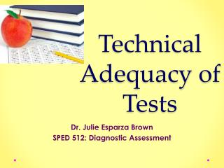 Technical Adequacy of Tests