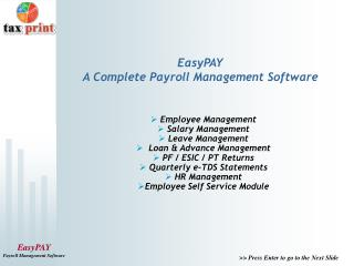 EasyPAY A Complete Payroll Management Software
