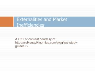 Externalities and Market Inefficiencies