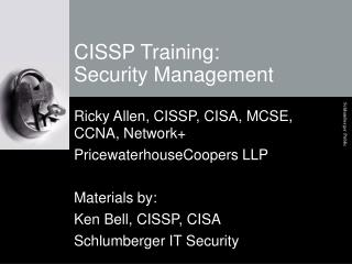 CISSP Training: Security Management