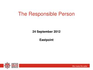 The Responsible Person