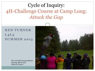 Cycle of Inquiry: 4H-Challenge  Course at Camp  Long: Attack the Gap