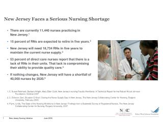 New Jersey Faces a Serious Nursing Shortage