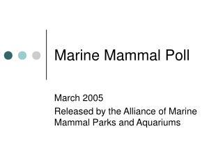 Marine Mammal Poll