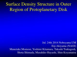 Surface Density Structure in Outer Region of  P rotoplanetary  Disk