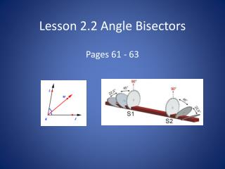 Lesson  2.2 Angle  Bisectors