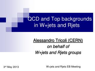 QCD  and Top backgrounds  in  W+jets  and  Rjets