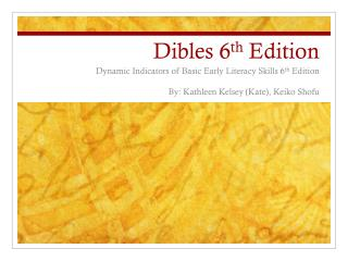 Dibles  6 th  Edition