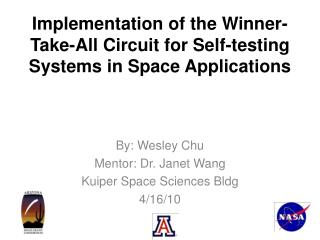 Implementation of the Winner-Take-All Circuit for Self-testing  Systems  in Space Applications