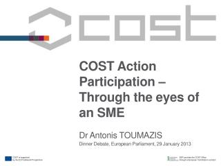 COST Action Participation – Through the eyes of an SME