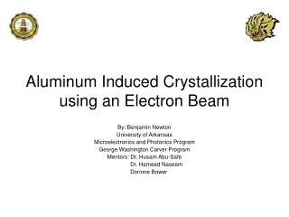 Aluminum Induced Crystallization using an Electron Beam