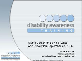David V. Whalen Trainer/Consultant disabilityawarenesstraining