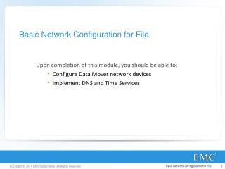 Basic Network Configuration for File