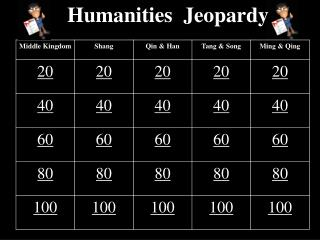 Humanities  Jeopardy