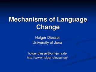 Mechanisms of Language Change