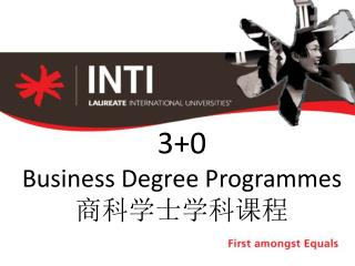3+0 Business Degree Programmes 商科学士学科课程