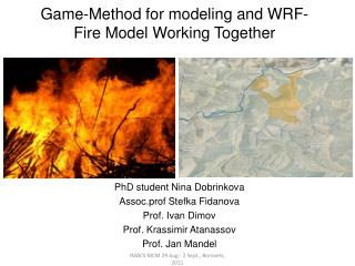 Game-Method for modeling and WRF-Fire Model Working Together