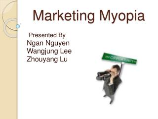 marketing myopia reaction paper essay A new form of marketing myopia that, in today's business environment, can also cause serious distortions of strategic vision and the possibility of business failure, or at least exacerbate the marginalization of the marketing function.