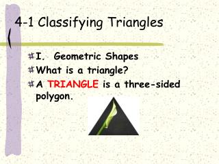 4-1 Classifying Triangles