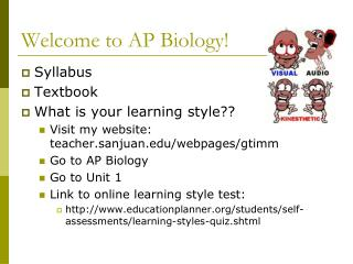 Welcome to AP Biology!