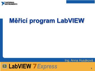 Měřicí program LabVIEW