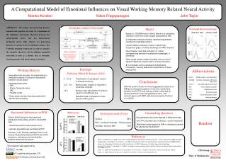 A Computational Model of Emotional Influences on Visual Working Memory Related Neural Activity